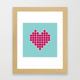 Pixelated Heart Framed Art Print