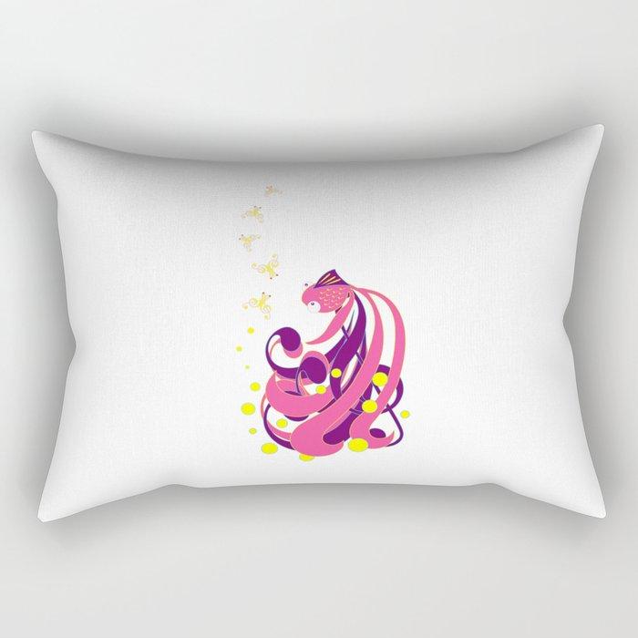 Musical Fish Rectangular Pillow
