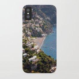 Positano Italy Harbor - Mediterranean Sea iPhone Case