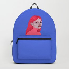 Woman in pink Backpack