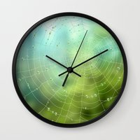 spider Wall Clocks featuring spider by Antracit