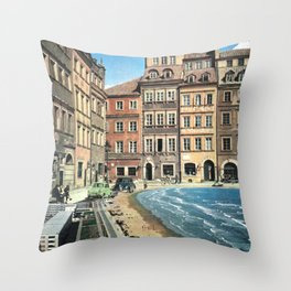 Il mare in paese Throw Pillow
