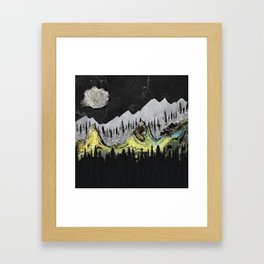 Silicone Mountains Framed Art Print