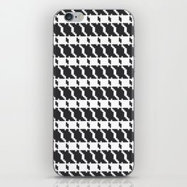 Black and white geometric abstract background, cloth pattern, goose foot. Pied de poule. Ve iPhone Skin