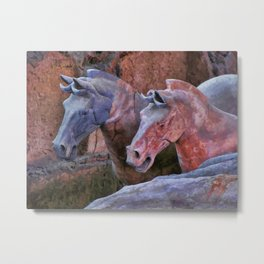 Terracotta Warriors' Horses 1 Metal Print