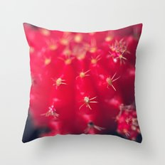 Ruby Ball Cactus Throw Pillow