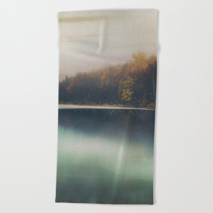Autumn Dusk Beach Towel