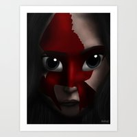 katniss Art Prints featuring Katniss by BellaG studio