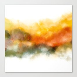 Soft Marigold Pastel Abstract Canvas Print
