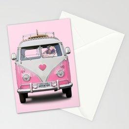 Pug Girly Adventure Stationery Cards