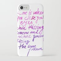 love quotes iPhone & iPod Cases featuring Love quotes by Ioana Avram