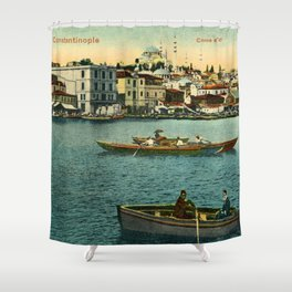 Vintage Golden Horn Constantinople ca 1900  Shower Curtain