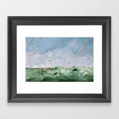 Ocean Painting - August Strindberg Framed Art Print