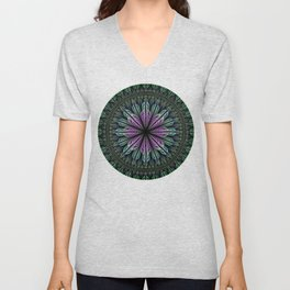 Magical dream flower II, fractal abstract Unisex V-Neck
