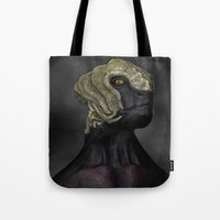 ripley Tote Bags featuring Ripley by Lowri W. Williams