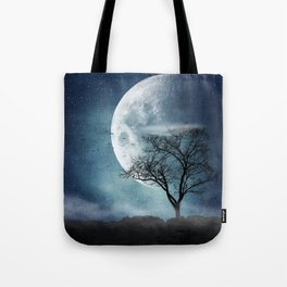 Moon Blues Tote Bag