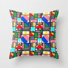 Bauhaus Village Throw Pillow