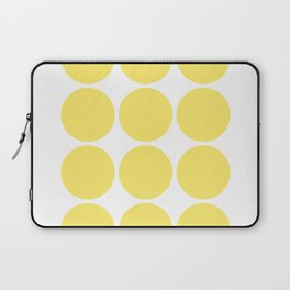 Yellow and White Abstract Art Laptop Sleeve