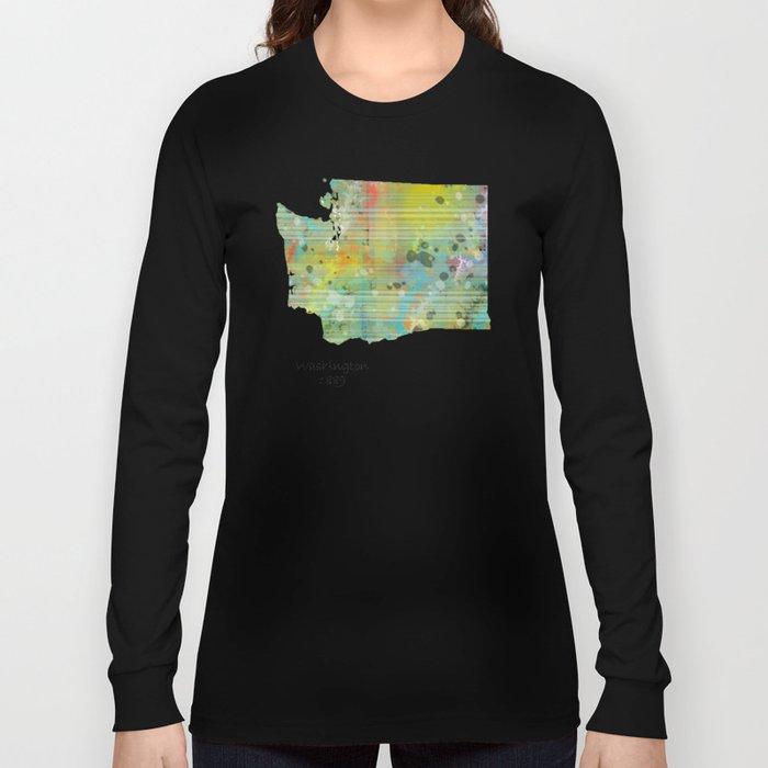 Washington state map  Long Sleeve T-shirt