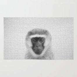 Monkey - Black & White Rug