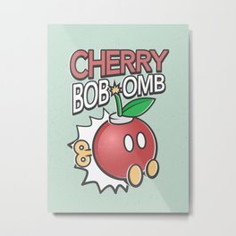 Cherry Bob-omb Metal Print