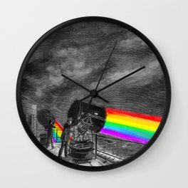 Turn the spotlight on, send the colors Wall Clock