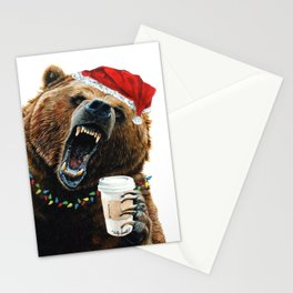 Grizzly Mornings Christmas Stationery Cards
