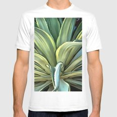 Tropical Agave Mens Fitted Tee White MEDIUM