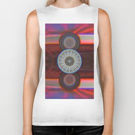 Three Mandalas Biker Tank