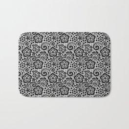 Black Lace. Pattern. Bath Mat