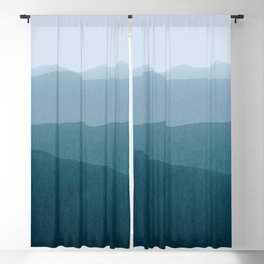 gradient landscape Blackout Curtain