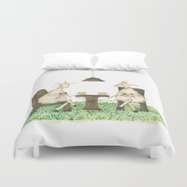 Sheep knitting Duvet Cover