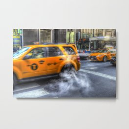 New York Taxis Metal Print