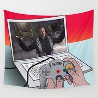 game of thrones Wall Tapestries featuring  game by mark ashkenazi
