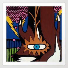 and the MAGIC BERRIES PLAYED RIGHT into FOX'S HANDS Art Print