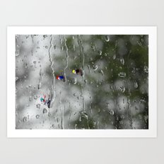 Rain racers Art Print
