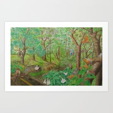 A Day of Forest (1). (walk into the forest) Art Print