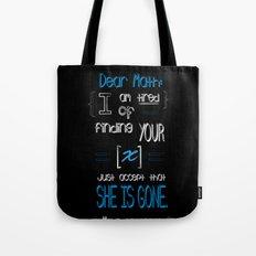 Dear Math (blue)  Tote Bag