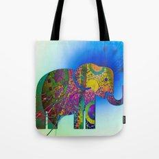 Exploding Elephant  Tote Bag