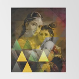 Yashoda's kanha Throw Blanket