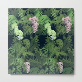 NZ Ferns Repeating Pattern Metal Print