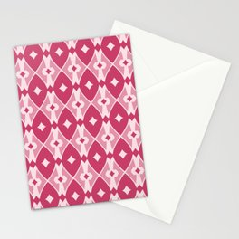 Rounded Argyle Pattern Stationery Cards