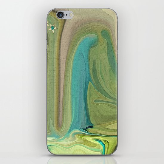 LADY IN BLUE DO I KNOW YOU? iPhone & iPod Skin