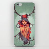 into the wild iPhone & iPod Skins featuring Wild by Joifish