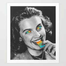 Acid wafer Art Print