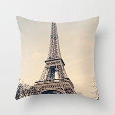Good Morning Paris Throw Pillow