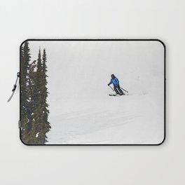 Downhill Skier - Winter Sports Scene Laptop Sleeve