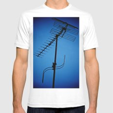 Wires Crossed Mens Fitted Tee White MEDIUM