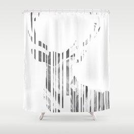 Geometric black Stag Shower Curtain