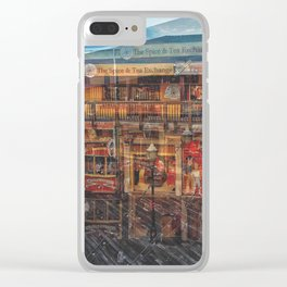 Time shadow Clear iPhone Case
